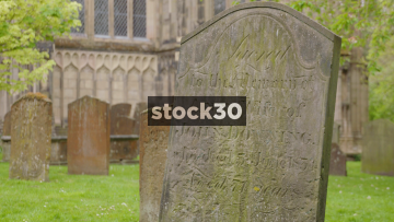 Old Grave Stones At St Mary's Church In Warwick, Two Shots, UK