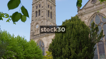 St Mary's Church In Warwick With Sound Of Clock Chiming 11, UK