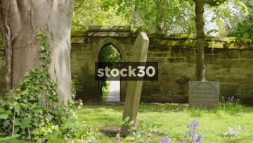 Gateway Through Wall Of St Mary's Churchyard In Warick, UK