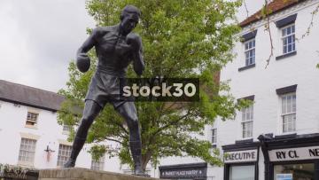 Statue Of The Boxer Randolph Adolphus Turpin In Warwick, UK