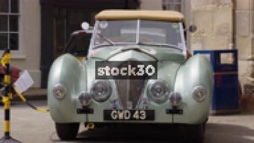 Austin Healey Classic Car On Display In Warwick, Two Shots, UK