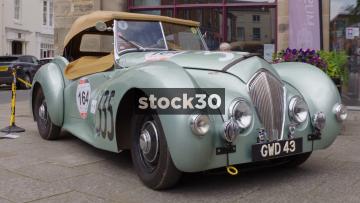 Austin Healey Classic Car On Display In Warwick, Three Shots, UK
