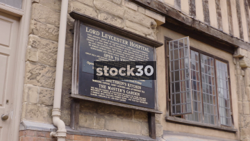 Lord Leycester Hospital Sign In Warwick, UK