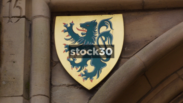 Coats Of Arms On The Lord Leycester Hospital In Warwick, Three Shots, UK