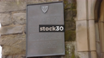 Commemorative Plaque On The Lord Leycester Hospital In Warwick, UK