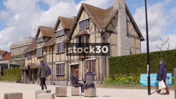 William Shakespeare's Birthplace In Stratford, Wide Shot, UK