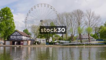 Ferris Wheel By The River Avon In Stratford, UK