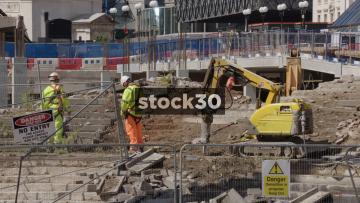 Construction Site In Birmingham, UK