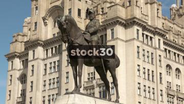 Edward VII Statue, Liverpool, UK