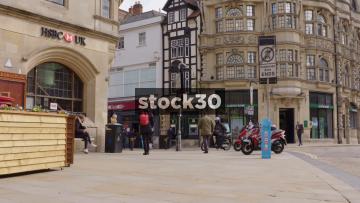HSBC Bank On The Corner Of Queen Street And Cornmarket Street, Oxford, UK