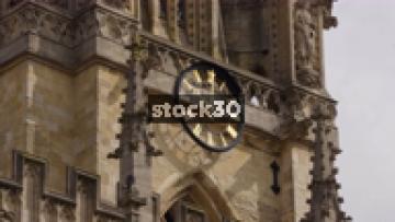 Close Up Of Chiming Clock On University Church, Oxford, UK