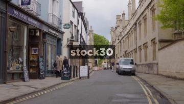 Turl Street In Oxford, Two Shots, UK