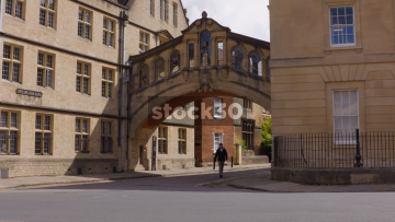 Bridge Of Sighs At Hertford College In Oxford, Two Shots, UK