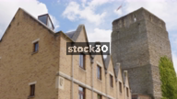 Turret Of Oxford Castle And Prison, Wide And Close Up Shots, UK