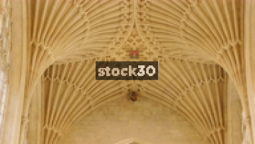 Bath Abbey Ceiling, Slow Zoom Out And Tilt, Bath, UK