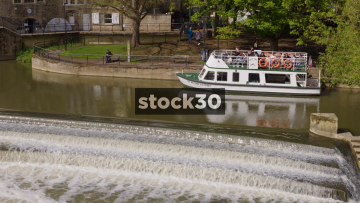 William Pulteney Cruise Boat On The River Avon In Bath, UK