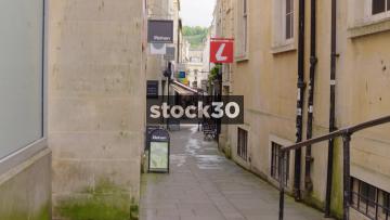 Union Passage In Bath, Slow Zoom In, UK