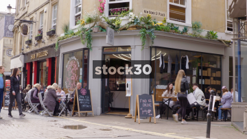 Good Day Cafe And Sam Wellers At New Bond St Place, Bath, UK