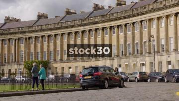 The Royal Crescent In Bath, UK