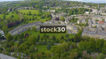 Drone Shot Approaching The Royal Crescent In Bath, UK