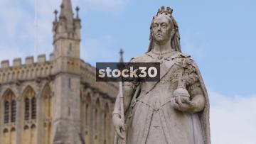 Queen Victoria Statue At College Green In Bristol, UK