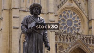 Statue Of Rajah Rammohun Roy Outside Bristol Cathedral, UK
