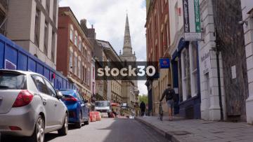 Broad Street In Bristol's Historic Quarter, UK
