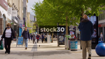 Shoppers On Broadmead In Bristol, UK