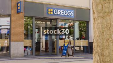 Greggs Bakery On Broadmead In Bristol, UK