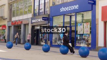 Footlocker, Skechers And Shoezone On Broadmead In Bristol, UK