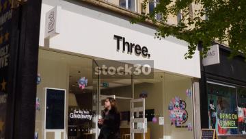 Three Store On Broadmead In Bristol, UK