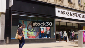 Marks And Spencer On Broadmead In Bristol, Wide And Close Up, UK