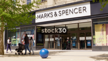 Marks And Spencer On Broadmead In Bristol, Wide Shot, UK