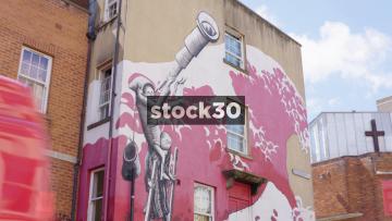 Street Art On Hillgrove Street In Bristol, UK