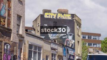 City Phone Street Art In Bristol, UK