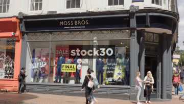 Moss Bros On New Street In Birmingham, UK