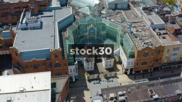 Drone Shot Of The Galleries Shopping Centre In Bristol, UK