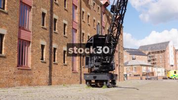 Old Crane At Gloucester Docks, Two Shots, UK