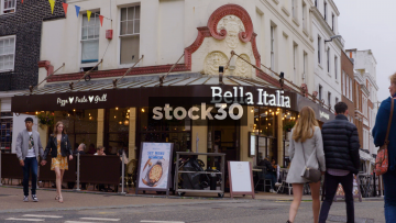 Bella Italia Pizza On North Street In Brighton, UK