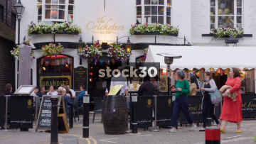 The Cricketers Pub On Black Lion Street In Brighton, UK