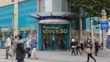 Poundland On Corporation Street In Birmingham, UK