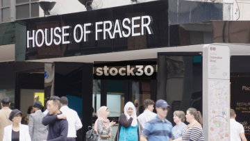 House Of Fraser On Corporation Street In Birmingham, UK