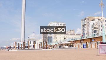 Timelapse Shot Of British Airways i360 Ascending In Brighton, UK
