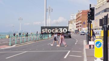 Kings Road In Brighton, UK