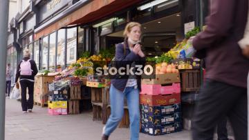 Taj Green Grocers Store On Western Road In Brighton, UK