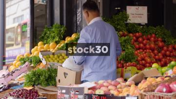 Taj Green Grocers Store On Wester Road In Brighton, 3 Shots, UK
