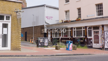 Run Down Buildings On Station Street In Brighton, UK