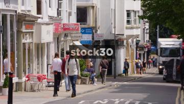 Trafalgar Street In Brighton, Slow Zoom Out, UK