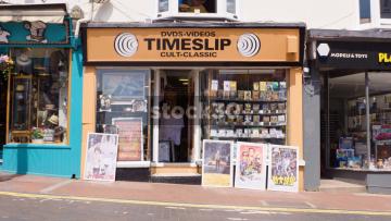 Timeslip DVD And Video Shop On Trafalgar Street In Brighton, UK
