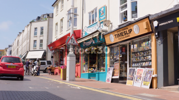 Mad Hatters Hat Shop And Timeslip DVD And Video Shop On Trafalgar Street In Brighton, UK